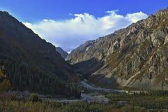 Ala-Archa gorge. Mountains of Ala-Archa gorge, Kyrgyzstan Stock Photo