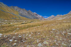 Ala Archa in Kyrgyzstan. Scenic valley in Ala Archa national park in Tian Shan mountain range in Kyrgyzstan royalty free stock image