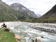 The Ala Archa National Park in the Tian Shan mountains of Bishkek Kyrgyzstan stock photos