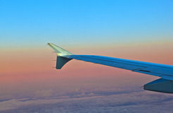 Ala de aviones Foto de archivo libre de regalías