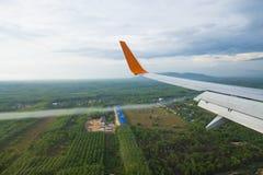 Ala de aviones Fotografía de archivo