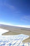 Ala del aeroplano Fotos de archivo