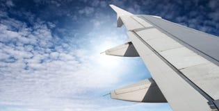 Ala del aeroplano fotografía de archivo libre de regalías