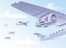 Ala del aeroplano ilustración del vector