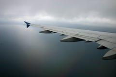 Ala del aeroplano Fotografía de archivo