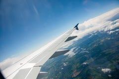 Ala del aeroplano foto de archivo libre de regalías