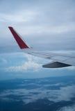 Ala del airplain del vuelo Imágenes de archivo libres de regalías