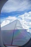 Ala del avión Imagen de archivo
