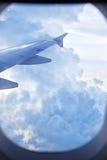 Ala del avión Fotografía de archivo libre de regalías