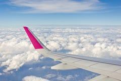 Ala del avión Fotos de archivo libres de regalías