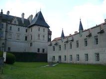 Ala del castello di Žleby Fotografie Stock