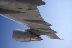 Ala del jet imagenes de archivo