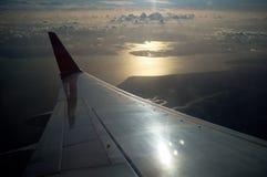 Ala del vuelo en el aire Fotos de archivo libres de regalías