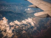 Ala dell'aereo Fotografia Stock