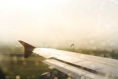 Ala dell'aereo Immagine Stock
