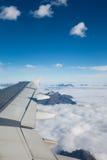 Ala dell'aereo di aria Immagine Stock