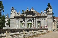 Ala della parte di destra del palazzo del cittadino di Queluz fotografia stock libera da diritti