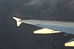 Ala di aircraftn Fotografia Stock Libera da Diritti