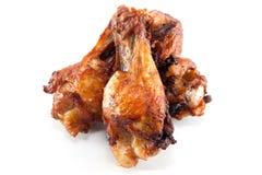 Ala di pollo fritto Fotografie Stock Libere da Diritti