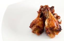 Ala di pollo fritto Fotografia Stock Libera da Diritti