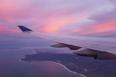 Ala di un aeroplano Fotografie Stock