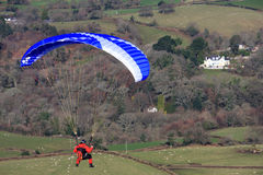 Ala flexible sobre Dartmoor foto de archivo libre de regalías