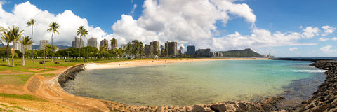 Ala Moana Beach Park Royalty Free Stock Image