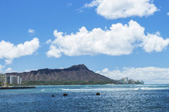 Ala Moana Bowls and Diamond Head Royalty Free Stock Images