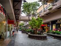 Ala Moana Center. The famous Ala Moana Center mall in Waikiki, Honolulu Royalty Free Stock Image