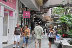 Ala Moana Center, the largest shopping mall in Hawaii. HONOLULU, HAWAII - DECEMBER 24: Ala Moana Center, the largest shopping mall in Hawaii, as seen on December stock image