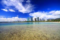Ala Moana reef Hawaii. This is a view looking towards Ala Moana in Oahu, Hawai'i Royalty Free Stock Photography