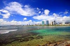 Ala Moana Riff Hawaii Oahu Stockbild