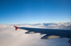 Ala nelle nuvole Fotografia Stock Libera da Diritti