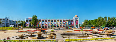 Ala-ook, het centrale vierkant van Bishkek - Kyrgyzstan royalty-vrije stock foto