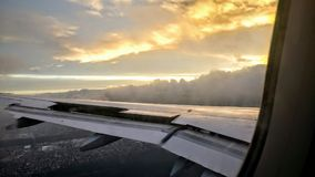 Ala piana con il cielo epico fotografie stock