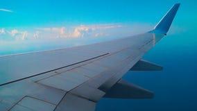 Ala piana durante il volo video d archivio