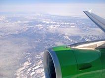Ala piana durante il volo Fotografie Stock