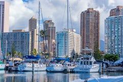 Ala Wai Boat Harbor stock photo