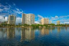 Ala Wai Canal Honolulu foto de archivo
