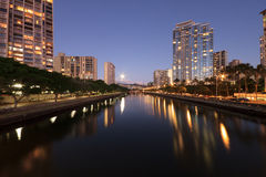 Ala Wai Canal Honolulu Hawaii Stock Photography