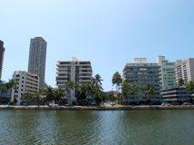 Ala Wai Canel in Waikiki Stock Images