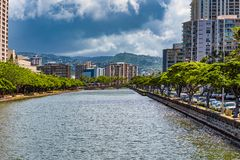 Ala Wai Cannel stock image