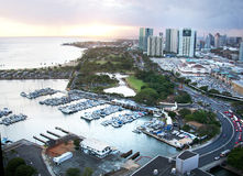 Ala Wai Harbor Stock Images