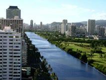 Ala Wai Kanal Stockbilder
