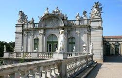 Ala y estatuario barrocos, palacio del nacional de Queluz imágenes de archivo libres de regalías