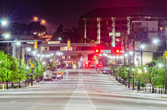 Alabam Монтгомери городское на nighttime Стоковая Фотография