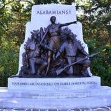 Alabama-Abteilungs-Monument in Gettysburg, Pennsylvania Lizenzfreie Stockbilder