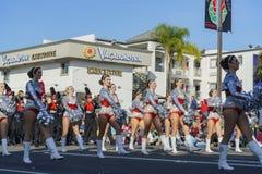 Alabama, Aggie una demostración de la banda en Rose Parade famosa Foto de archivo