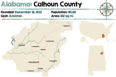 Alabama: Calhoun County Royalty Free Stock Photos