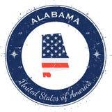 Alabama circular patriotic badge. Royalty Free Stock Image